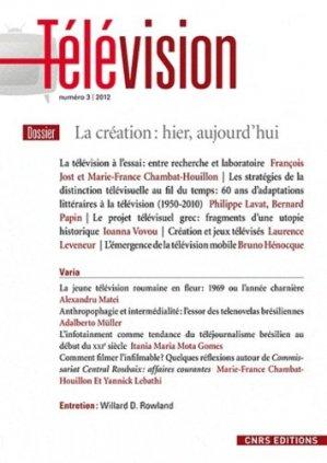La création : hier, aujourd'hui - CNRS - 9782271073921 -