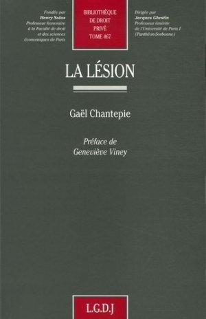 La lésion - LGDJ - 9782275030623 -