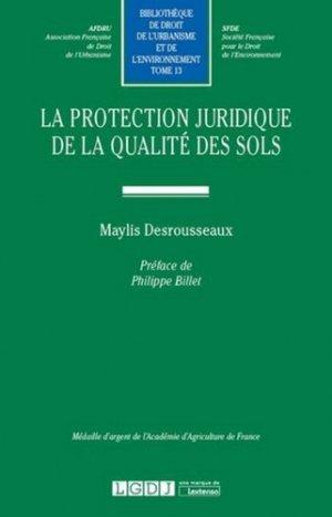 La protection juridique de la qualité des sols - LGDJ - 9782275052809 -
