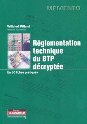 La règlementation du BTP décryptée - le moniteur - 9782281115659 -
