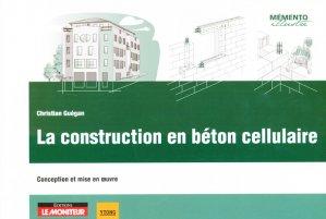 La construction en béton cellulaire - le moniteur - 9782281116410 -