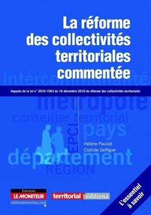 La réforme des collectivités territoriales commentée - groupe moniteur - 9782281128475 -