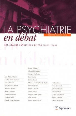 La psychiatrie en débat - springer - 9782287990458 -
