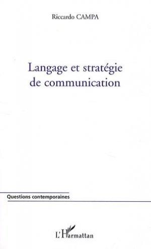 Langage et stratégie de communication - l'harmattan - 9782296094550 -