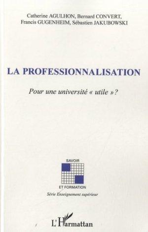 La professionnalisation - l'harmattan - 9782296967472 -