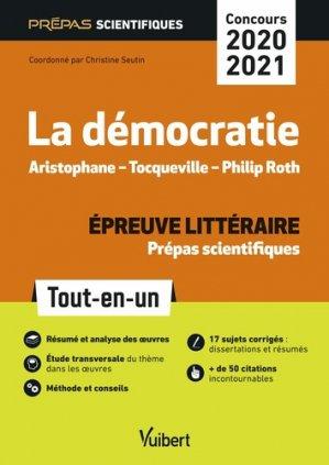 La Démocratie épreuve littéraire prépas scientifiques - vuibert - 9782311406535 -