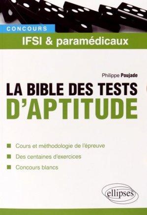 La bible des tests d'aptitude - ellipses - 9782340002647 -