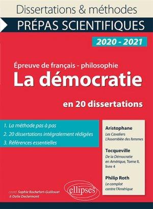 La démocratie en 20 dissertations - ellipses - 9782340030602 -
