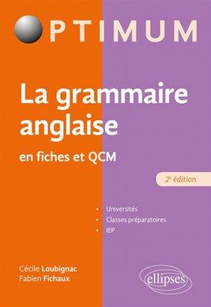 La grammaire anglaise en fiches et qcm - ellipses - 9782340032811 -