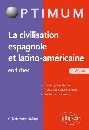 La civilisation espagnole et latino-américaine en fiches - Ellipses - 9782340039858 -