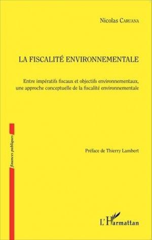 La fiscalité environnementale - l'harmattan - 9782343075501 -