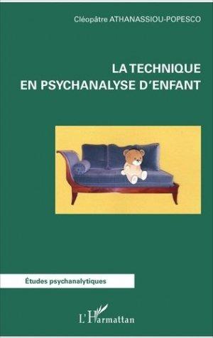 La technique en psychanalyse d'enfant - l'harmattan - 9782343125602 -