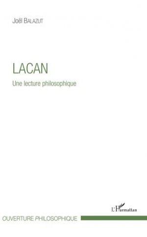 Lacan - Une lecture philosophique - l'harmattan - 9782343151618 -