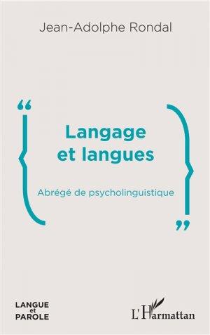Langage et langues - l'harmattan - 9782343180922 -