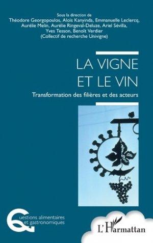 La vigne et le vin - l'harmattan - 9782343209913 -