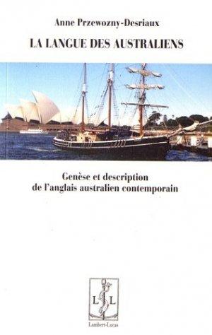 La langue des Australiens - lambert-lucas - 9782359351736 -
