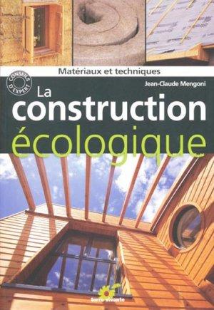 La construction écologique - terre vivante - 9782360980130 -