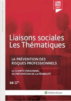 LA PREVENTION DES RISQUES PROFESSIONNELS - Editions Liaisons - 9782371480919 -