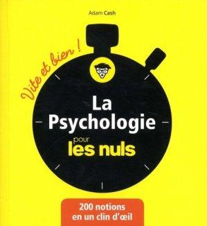 La Psychologie pour les Nuls - first - 9782412035993 -