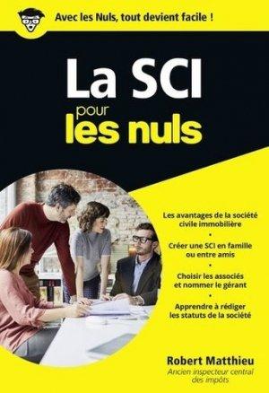 La SCI pour les nuls - First - 9782412043646 -