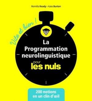 La programmation neurolinguistique pour les nuls - first - 9782412048160 - majbook ème édition, majbook 1ère édition, livre ecn major, livre ecn, fiche ecn