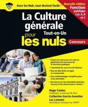 La culture générale tout en un pour les nuls. Concours, Edition 2020 - First - 9782412051047 -