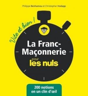 La franc-maçonnerie vite et bien pour les nuls - first editions - 9782412055908 -