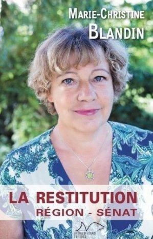 La Restitution - La Nage de l'ourse - 9782490513130 -