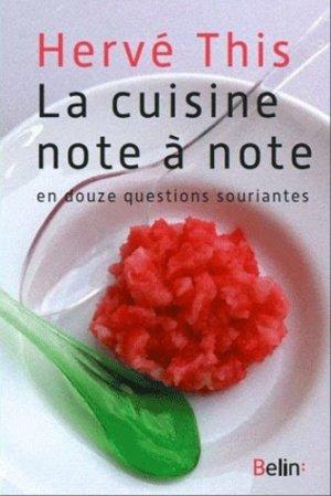 La cuisine note à note - belin - 9782701164199 -