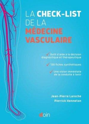 La check-list de la médecine vasculaire - doin - 9782704016303 -