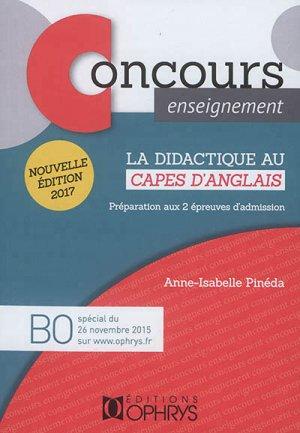 La didactique au CAPES d'anglais - ophrys - 9782708014947 -