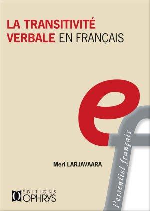 La transitivité verbale en français - ophrys - 9782708015418 -