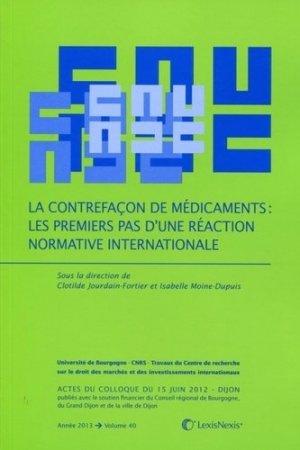 La contrefaçon de médicaments - lexis nexis (ex litec) - 9782711018970 -