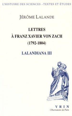Lalandiana - vrin - 9782711626663 -