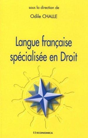 Langue française spécialisée en Droit - Economica - 9782717853759 -