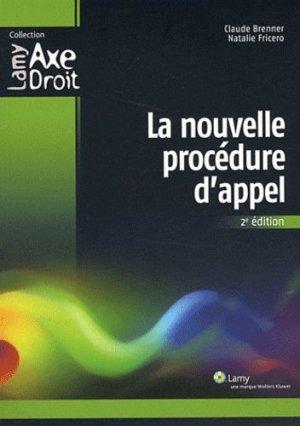 La nouvelle procédure d'appel. 2e édition - Sa Lamy - 9782721214485 -
