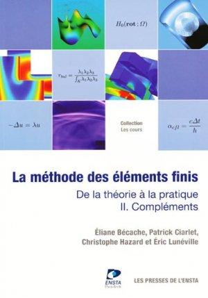 La méthode des éléments finis - les presses de l'ensta - 9782722509238