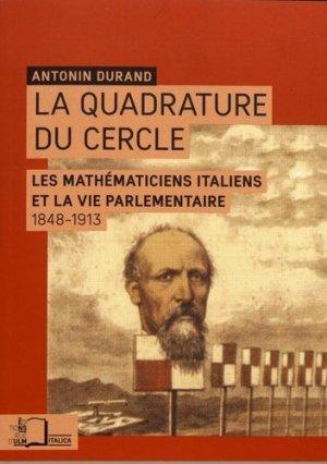 La quadrature du cercle - Rue d'Ulm - 9782728805877 -