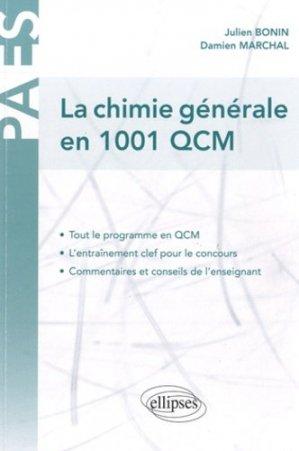 La chimie générale en 1001 QCM - ellipses - 9782729856847 -