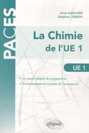 La chimie de l'UE1 - ellipses - 9782729864262 -