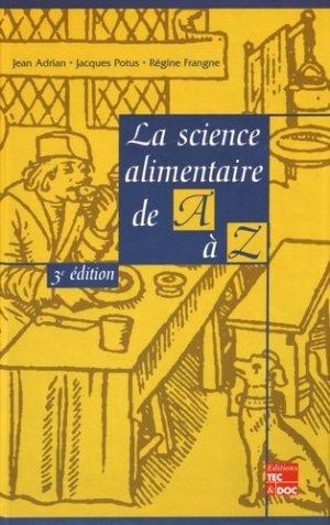 La science alimentaire de A à Z - lavoisier / tec et doc - 9782743005689 -