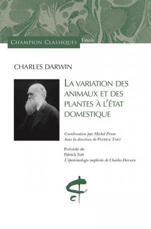 La variation des animaux et des plantes à l'état domestique - honore champion - 9782745329677