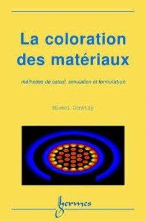 La coloration des matériaux - hermès / lavoisier - 9782746200951 -