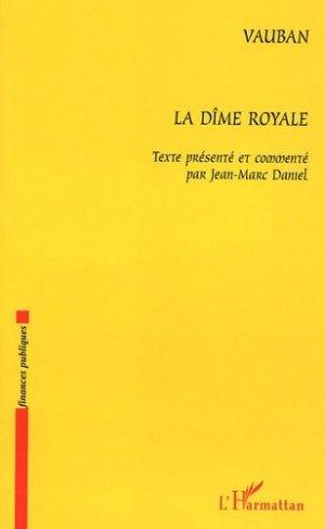 La dîme royale - l'harmattan - 9782747562768 -