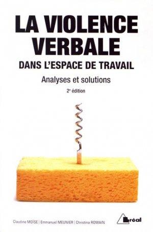 La violence verbale dans l'espace de travail - Bréal - 9782749538617