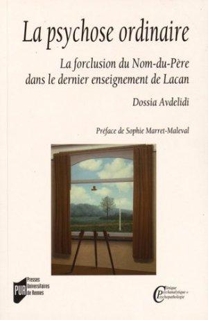 La psychose ordinaire - presses universitaires de rennes - 9782753543560 -