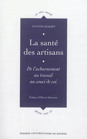 La santé des artisans - presses universitaires de rennes - 9782753552111 -