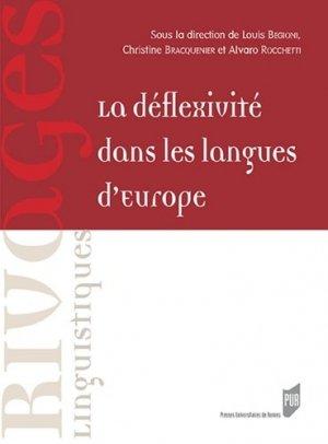 La déflexivité dans les langues d'Europe - presses universitaires de rennes - 9782753578128 -