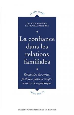 La confiance dans les relations familiales - presses universitaires de rennes - 9782753579439 -
