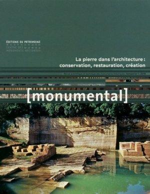 La pierre dans l'architecture : conservation, restauration, création - du patrimoine - 9782757706060 -